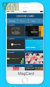 Magcards business card design for android free download at apk here magcards business card design reheart Images