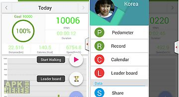 Pedometer for health care