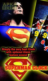 superman clock live wallpaper free