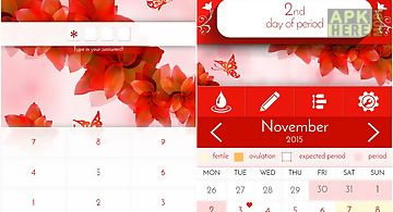 Period tracker woman diary p