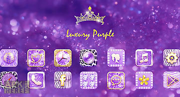Luxury purple launcher theme