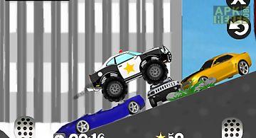 Mad smash cop - hill racer