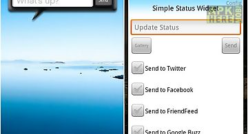 Simple status widget lite