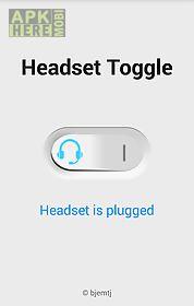 headset toggle