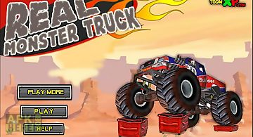 Real monster truck racing