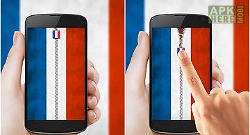 France flag zipper lock
