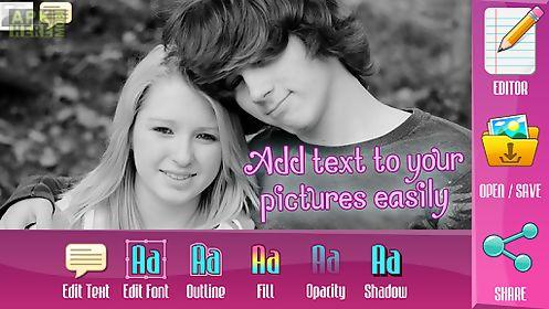 photo studio text on pics