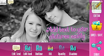 Photo studio text on pics