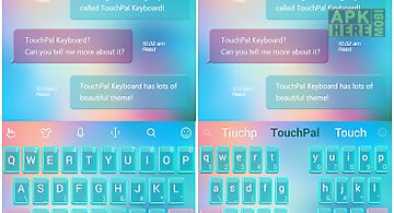 Touchpal soft light theme