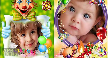 Kids birthday photo frames