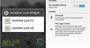 Invisible lock screen widget