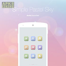 simple pastel sky dodol theme