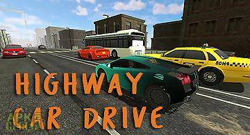 Highway car drive