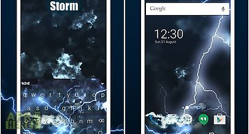 Storm animated keyboard