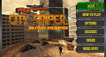 City sniper:military encounter