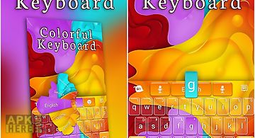 Colorful go keyboard theme