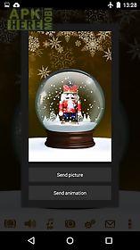snow globe winter christmas