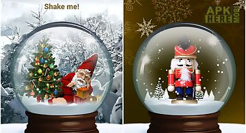 Snow globe winter christmas