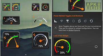Gauge battery widget 2017