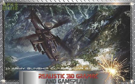 army gunship clash - war game
