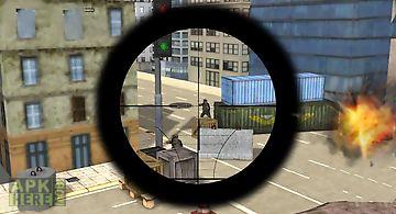 Army sniper duty street war