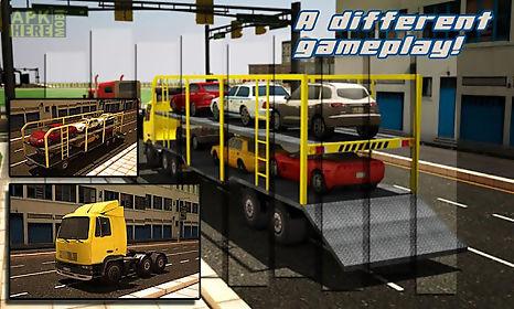 car transporter trailer 3d sim