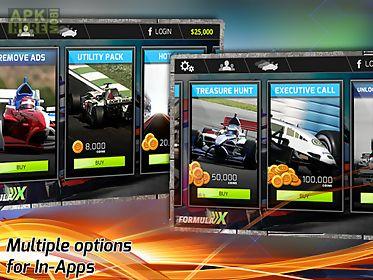 formula x - 3d car racing