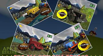 Mountain truck transport 3d