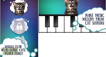 Cat piano. sounds-music