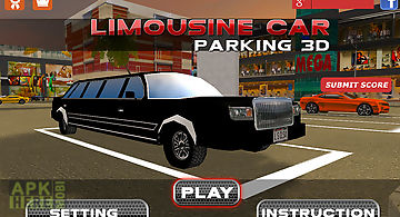 3d limousine car parking
