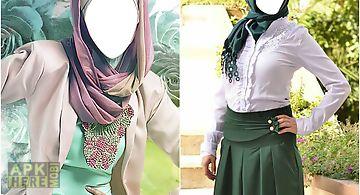 Hijab modern photo montage