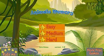 Animals memo cards