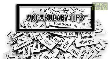 Vocabulary tips