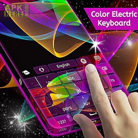 color electric keyboard