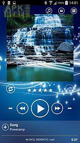 poweramp skin sphere blue