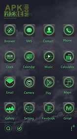 blackish go launcher theme