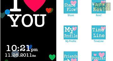 [free]i love flow! live wall