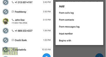 Calls blacklist - call blocker