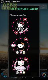 hello kitty android clock widget
