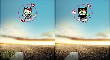 Hello kitty android clock widget