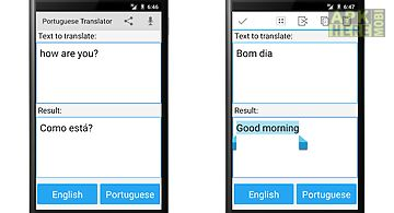 Portuguese english translator