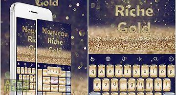 Nouveau riche gold theme
