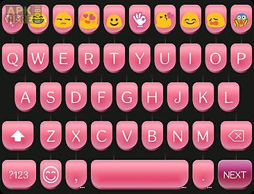 Pink type writer keyboard skin for Android free download at