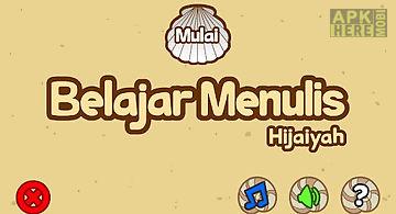 Belajar menulis hijaiyah