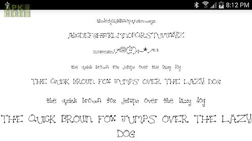 fonts for flipfont 50 hearts for android free download at apk here