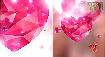 Diamond hearts by  hq Live Wallp..