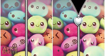 Cute love hearts zip lock