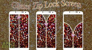 Glitter zip lock screen