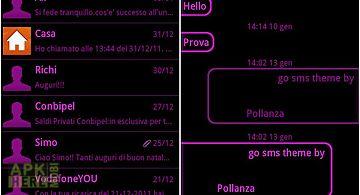 Go sms pink black neon theme