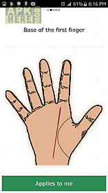 free palm reading chart